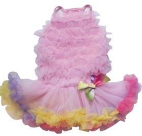 Pink Rainbow Ruffle Petti Dress for Dogs