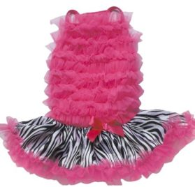 Fuchsia / Zebra Ruffle Petti Dress for Dogs