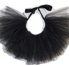 Handcrafted in USA Black Tulle Tutu for Dogs-1