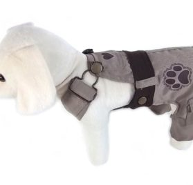 UP Collection Classic Dog Dress with Adjustable Snap Buttons, Beige, XX-Small-2