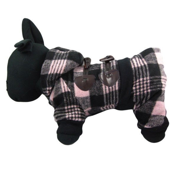 Alfie Couture Designer Pet Apparel - Hayley Flannel Coat Jumper-1