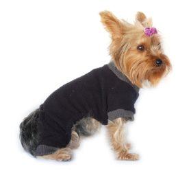 Fleece Pet Pajamas - Blue, Pink, Grey, Black