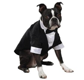 East Side Collection Polyester/Cotton Yappily Ever After Dog Groom Tuxedo, X-Small, 10-Inch