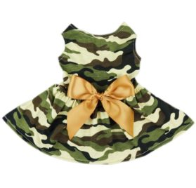 Fitwarm® Fashion Army Green Camouflage Pet Dog Dress Clothes Camo Shirts Vest Comfy Apparel-1