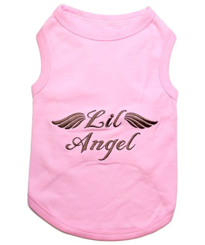 """ LIL ANGEL "" - Pink Embroidered Pet Dog Shirt - All Sizes - Free Shipping-3"