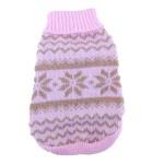Anima Knit Snowflake Pattern Sweater - Blue/Pink (Large, Medium, Small, Extra Small)-3