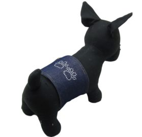 Alfie Couture Designer Pet Accessory - Rox Denim Belly Band (for Boy Dogs)-1