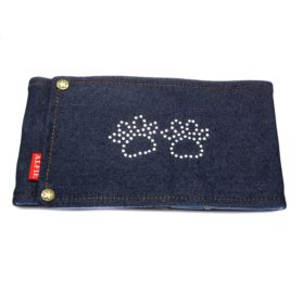 Alfie Couture Designer Pet Accessory - Rox Denim Belly Band (for Boy Dogs)-2