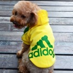 Angel Mall Adidog Hoodie Pet Clothes Dog Sweater Puppy Sweatshirt Warm Small Coat Christmas Gift 1-pc Set (Yellow)-5