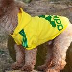 Angel Mall Adidog Hoodie Pet Clothes Dog Sweater Puppy Sweatshirt Warm Small Coat Christmas Gift 1-pc Set (Yellow)-6