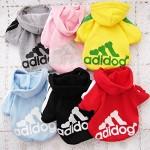 Angel Mall Adidog Hoodie Pet Clothes Dog Sweater Puppy Sweatshirt Warm Small Coat Christmas Gift 1-pc Set (Yellow)-8