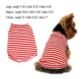 Striped T-Shirt, Black or Red (Large, Medium, Small, Extra Small)-1