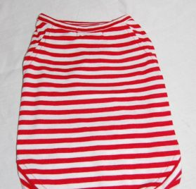 Striped T-Shirt, Black or Red (Large, Medium, Small, Extra Small)-2