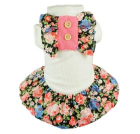 Fitwarm Elegant Floral Pet Dress for Dog Shirts Soft Clothes Vest Apparel, Large Roll over image to zoom in Fitwarm Elegant Floral Pet Dress for Dog Shirts Soft Clothes Vest Apparel-1