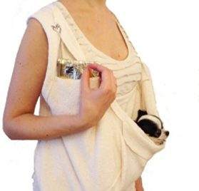 SHARK TANK SALE Scarf Sling Dog Carrier with Harness Clip by Heart Pup - patent pending-1