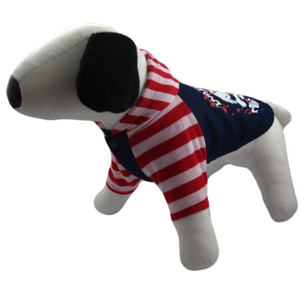 Alfie Couture Designer Pet Apparel - Sawyer Striped Hoodie-2