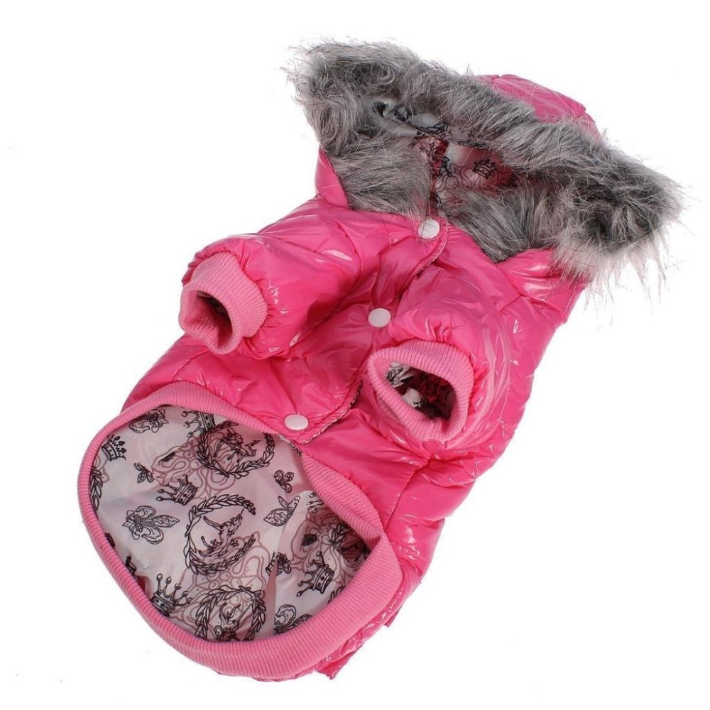 Lesypet dog puppy winter warm hooded coat jacket snowsuit clothes