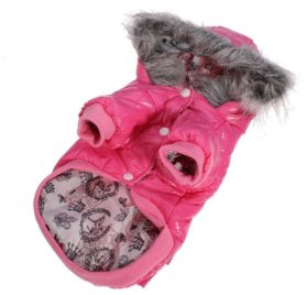 Lesypet Dog Puppy Winter Warm Hooded Coat Jacket Snowsuit Clothes Apparel-1