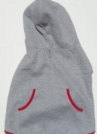 Dog Hoodie Sweatshirt Jacket, GRAY Small - 1