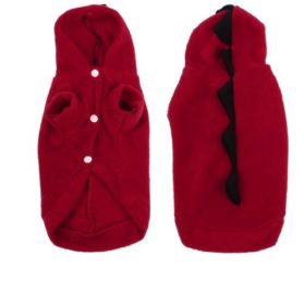 Water & Wood Winter Wear Short Sleeves Dog Doggie Chihuahua Hooded Clothes Apparel Red XS - 1