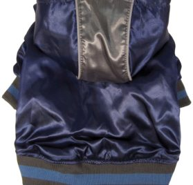 Dogit Style Metallic Dog Hoodie, Small, Blue - 1