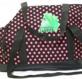 Dog Tote Carrier Purse Bag - Pink Polka Dot Soft Sided - Small Toy Teacup Breeds - Chuahua Yorkie Pomeranian Shih Tzu Poodle Maltese Pinscher Italian Greyhound Westie Dacshund - The Happiest Pet Is the One That Is with You! - 4