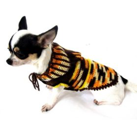 Camo Dog Sweater Hoodie Pet Clothing Handmade Crochet Knit Myknitt Dk897 - Free Shipping-1