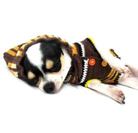 Camo Dog Sweater Hoodie Pet Clothing Handmade Crochet Knit Myknitt Dk897 - Free Shipping-2