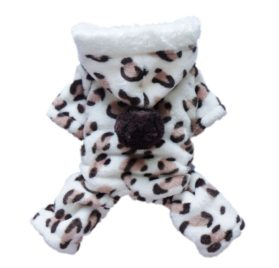 Adorable Leopard Dog Coat for Dog Hoodie Dog Clothes Soft Cozy Pet Clothes,S-1