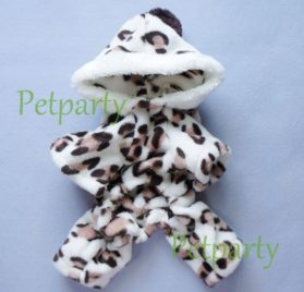 Adorable Leopard Dog Coat for Dog Hoodie Dog Clothes Soft Cozy Pet Clothes,S-2