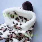 Adorable Leopard Dog Coat for Dog Hoodie Dog Clothes Soft Cozy Pet Clothes,S-3