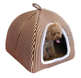 2 in 1 Pet Dog Cat House-Sofa Kennel Pet Bed Classic Ger