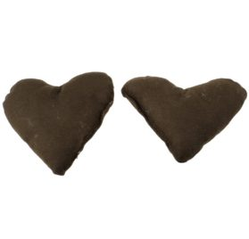 Pet Dog Cat Heart Shaped Neck Pillow Cushion Pads 2pcs Coffee Color