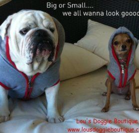Dog Hoodie Sweatshirt Jacket, GRAY Small - 2