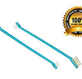 Dog Toothbrush Set with Two Dual Double Headed Toothbrushes By Legacy Pet Supplies - 2