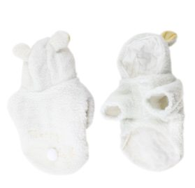 White Sheep Style Single Breasted Hoodie Pet Dog Coat Apparel XS