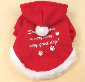 Chiqpets Christmas Dog Clothes Red Hoodies Sport Clothes Pet Clothing Santa Clothes Small Medium Dog Cat Chihuahua Yorkshire-2