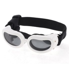 Black White Bone Pattern Adjustable Band Pet Dog Goggles Sunglasses
