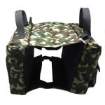 Alfie Pet by Petoga Couture - Hudson Dog Travel Adjustable Backpack Carrier with Microfiber Fast-Dry Towel Set - Color: Camouflage - 4