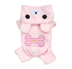 Pet Cat Dog Winter Clothes Jumper Bear Bone Jumpsuit Soft Puppy Fleece Hoodie Dog Coat-1