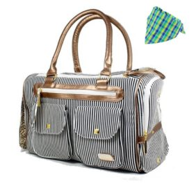 Fashion Dog Carrier Dog Handbag Dog Purse Tote Bag Pet Cat Dog Hiking Backpack + Dog Bandana - 1