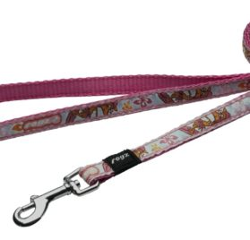 Rogz Dog Lead Pink Rogzette Design