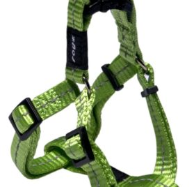 Rogz Utility Small 3/8-Inch Reflective Nitelife Adjustable Dog Step-in-Harness Lime