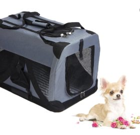 VALENTINA VALENTTI CAT DOG PUPPY PET FOLDING CANVAS CARRIER TRANSPORT CRATE SMALL IDC001 - 1