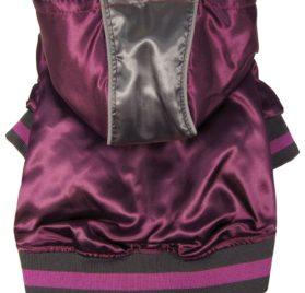 Dogit Style Metallic Dog Hoodie, Small, Purple
