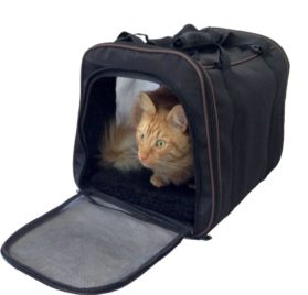 Pawfect Pet-Large Black Soft Sided Travel Pet Carrier for Dog or Cat. Airline Approved For In Cabin Under Seat Storage. 100% Risk Free Purchase with Full Replacement Guarantee. - 1