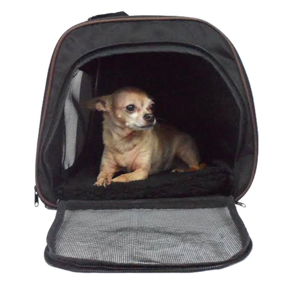Pawfect Pet Large Black Soft Sided Travel Pet Carrier For Dog Or Cat.  Airline