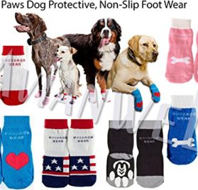 Advanced Power Paws Dog Protective, Non-Slip Foot Wear - each pack includes FOUR (For 4 Paws) 2