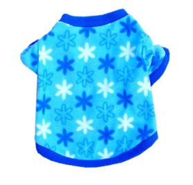 Commoditier Blue Snow Star Fleece Shirt Dresses for Dogs Pet Clothes for Small Dog Puppy Clothing - 1