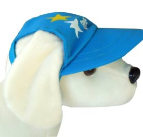 UP Collection Star Printed Cap for Dogs, Aqua Blue - 2